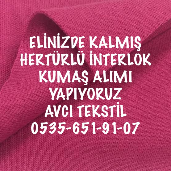 30/1 İnterlok Kumaş Alan |05356519107|